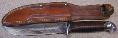 Vintage Western Hunting Knife and Leather Sheath