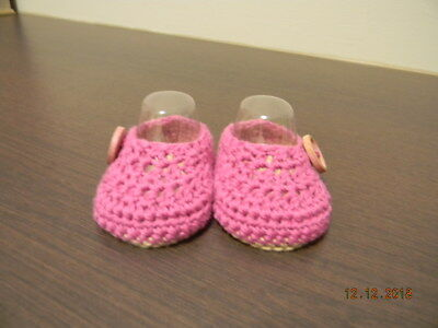 Baby Bootees Hand Crocheted 100% Cotton