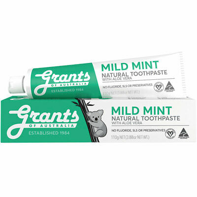 Grants of Australia Toothpaste Mild Mint with Aloe Vera 110g