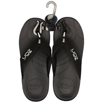 Neat Zori Black Orthotic Thong Size 8 Online Only