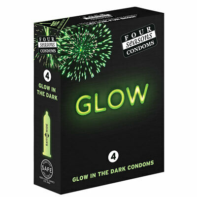 Four Seasons Glow In The Dark Condom 4 Pack Online Only