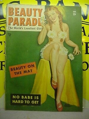 RISQUE MAGAZINE BEAUTY PARADE The World's Loveliest Girls Vol 8 JAN1950 25 CENTS