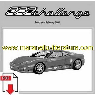 2001 Ferrari 360 Challenge spare parts catalogue PDF (uk)