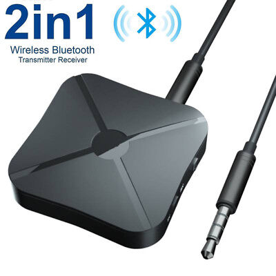 2in1 Wireless Bluetooth Audio Transmitter Receiver HIFI Music Adapter RCA AUX