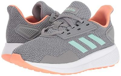 Kids Adidas Duramo 9 K Running Shoe BB7063 Color Grey Heather/Clear Mint/Granite