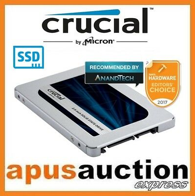 "Crucial MX500 250GB 500GB 1TB 2TB SATA 2.5"" Internal SSD Solid State Drive PC"