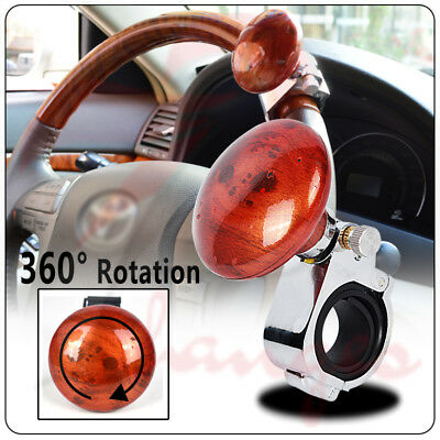 Brown Controllers Car Power Steering Wheel Ball Suicide Spinner Handle Knob Booster Great Automobiles & Motorcycles
