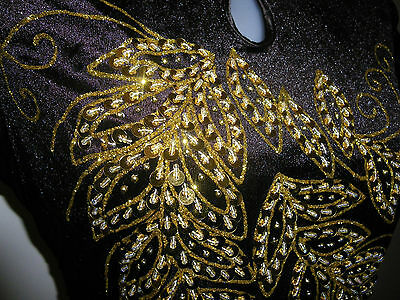 SALE! Size 12 (L) (MN-BR) New Evening Dress Long Dress Party Gown with Sequins