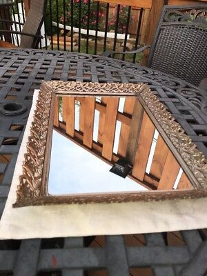 Vanity Cosmetic Mirror Tray Mid Century Modern Hollywood Regent Footed