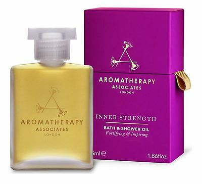 Aromatherapy Associates Inner Strength Bath & Shower Oil 55ml *New & Sealed*
