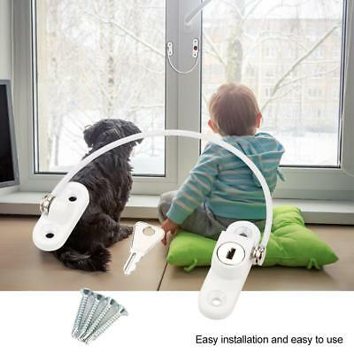 Lock Safety Baby Window Sliding Security Stopper with Keys Kids Protection Locks