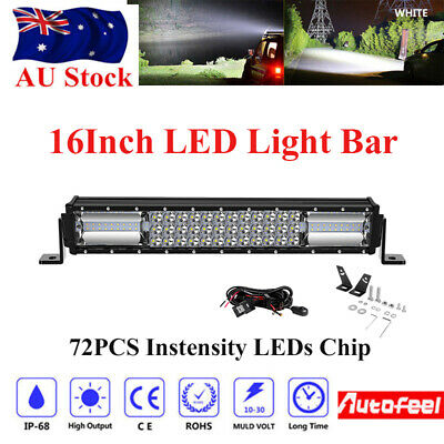 15inch OSRAM LED Light Bar Driving Spot Flood Offroad Work 4x4WD Fog Light 16''