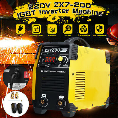 ZX7-200 220V Portable Mini IGBT Inverter DC Welding Machine MMA ARC Welder 200A