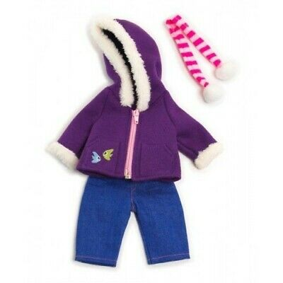 Miniland Doll Clothes Purple Fleece Winter Set 32cm