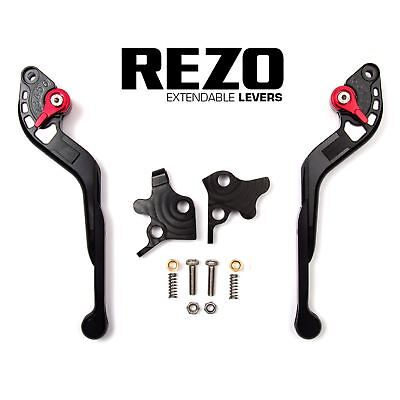 REZO Black Adjustable Extendable Brake and Clutch Lever Set for Ducati 848 07-13