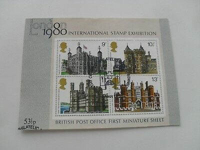 Gb Qe11 1978 British Used First Miniature Sheet  Historic Buildings