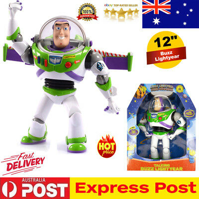 12'' Disney Toy Story Buzz Lightyear Talking Walking Action Figure Toys Doll AU