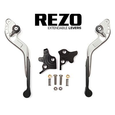 REZO Silver Extendable Brake and Clutch Lever Set for Yamaha FZ1-S Fazer 06-15