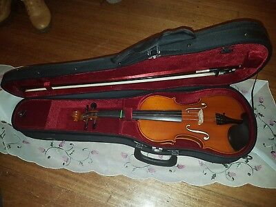SAMUEL EASTMAN - Student VL80 4/4 Size Violin Outfit bow, case, used  3 times