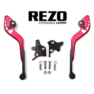 REZO Red Extendable Brake and Clutch Lever Set for Kawasaki ZXR 400 89-99