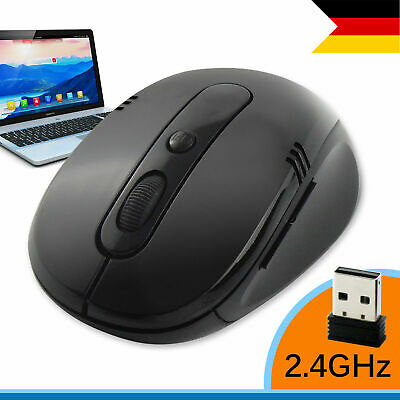 Wireless USB Gaming Maus PC Kabellose Mouse Computer Laptop Notebook Funkmaus