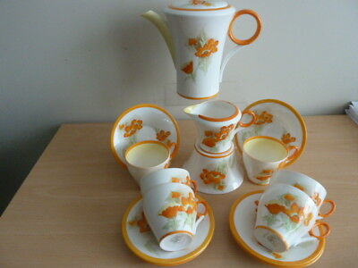 Stunning Shelley Coffee Set Pattern Number 12498 Must See