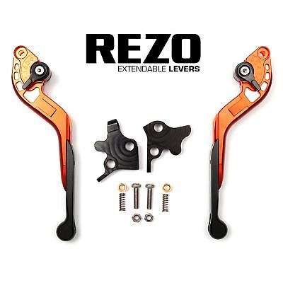 REZO Orange Extendable Brake and Clutch Levers for Ducati Monster 796 ABS 10-14