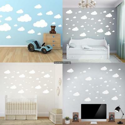 Clouds Vinyl Wall Sticker Decal Removable Art Nursery Kids Baby Room Home Decors