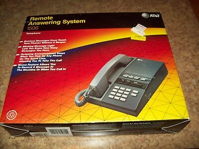 Vintage AT&T 1506 Remote Answering System Telephone Complete New in Box