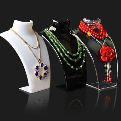 Mannequin Necklace Jewelry Pendant Display Bust Holder Stand Show Rack Showcase