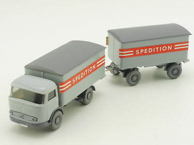 Wiking 671/FA MB LP 321 Koffer-LKW Spedition + Anhänger TOP! 1606-26-56