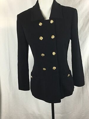 St. John Collection Black Santana Knit By Marie Gray Blazer Size 2 Jacket