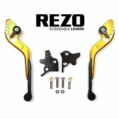 REZO Gold Extendable Brake and Clutch Levers for Aprilia RSV 1000 Mille R 99-03