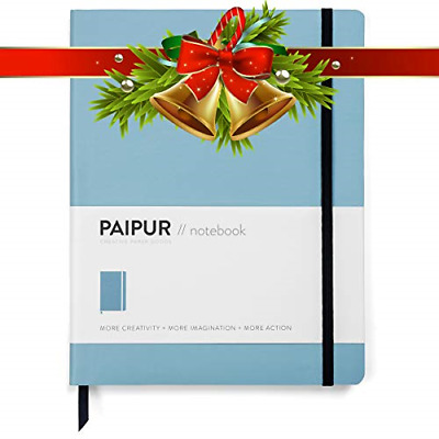 PAIPUR Notebook ~ Bullet Journal ~ Innovative Dotted Grid & Ruled Hybrid Format