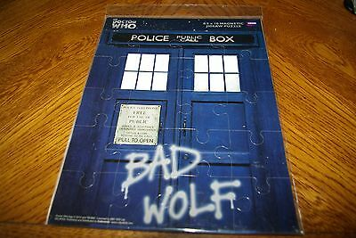 Doctor Who  Bad Wolf Police 20 Piece Vinyl MAGNETIC Jigsaw Puzzle, NEW SEALED