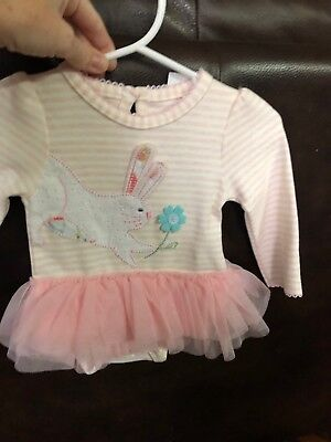 635c991de3b7 MUD PIE E8 Easter Newborn Baby Girl Bunny Tutu Crawler One Piece ...