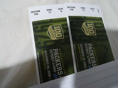 Green Bay Packers VS Detroit Lions Tickets