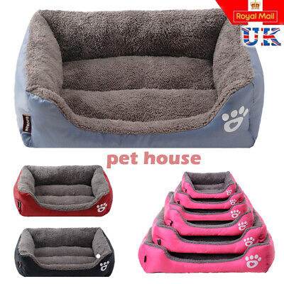 UK Pet Dog Cat Bed Puppy Cushion House Soft Warm Waterproof Kennel Mats Blanket