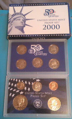 2000 US MINT PROOF SET with State Quarters 10 Proof Coins