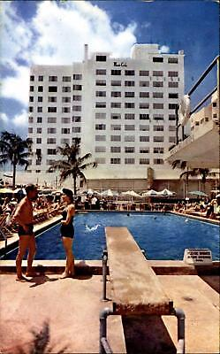Monte Carlo Hotel Pool Cabana Club Miami Beach Florida 1950s Bathing Suits