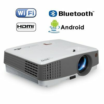 HD Portable Android Smart Projector 3600lm Bluetooth Wifi 1080p Home Theater FA