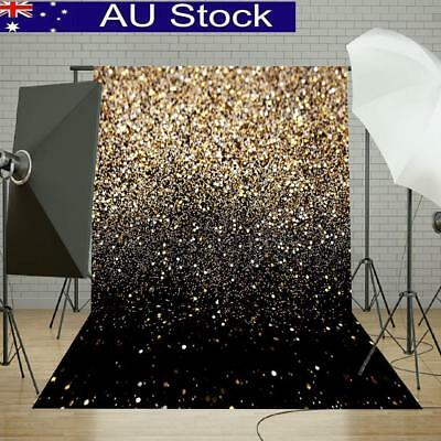 5x7FT Glitter Black Gold Wall Backdrop Photography Photo Background Studio Props