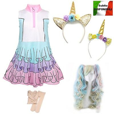 Simile Lol Unicorn Vestito Carnevale Bambina Tipo Lol Dress Cosplay LOLUNIC5