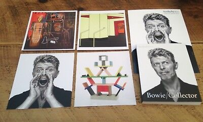 David Bowie Collector Sothebys Sotheby's Auction Catalogue + Guide + 4 Cards