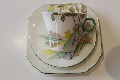 Shelley Bone China Cup, Saucer and Plate Trio. Art Deco in Design. No. 781613