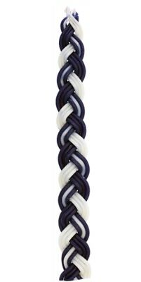 2 Pack Havdalah Candle - Braided Blue and White Flat Candle