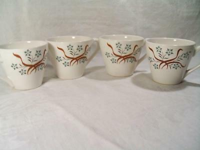 Jackson China Jac-Alume by Paul McCobb Cups 4 Pc. Lot Restaurantware 1970-80s