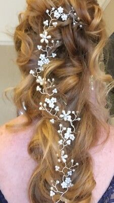 hand made pearl wedding hair accessory