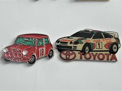 Pins  Automobile   Rallyes    2  Pins Differents  Superbe
