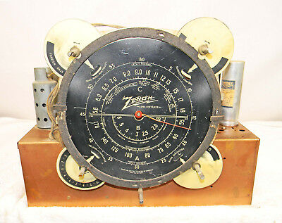 Zenith Model 6-S-128 Chassis With Flags In Factory Original Condition